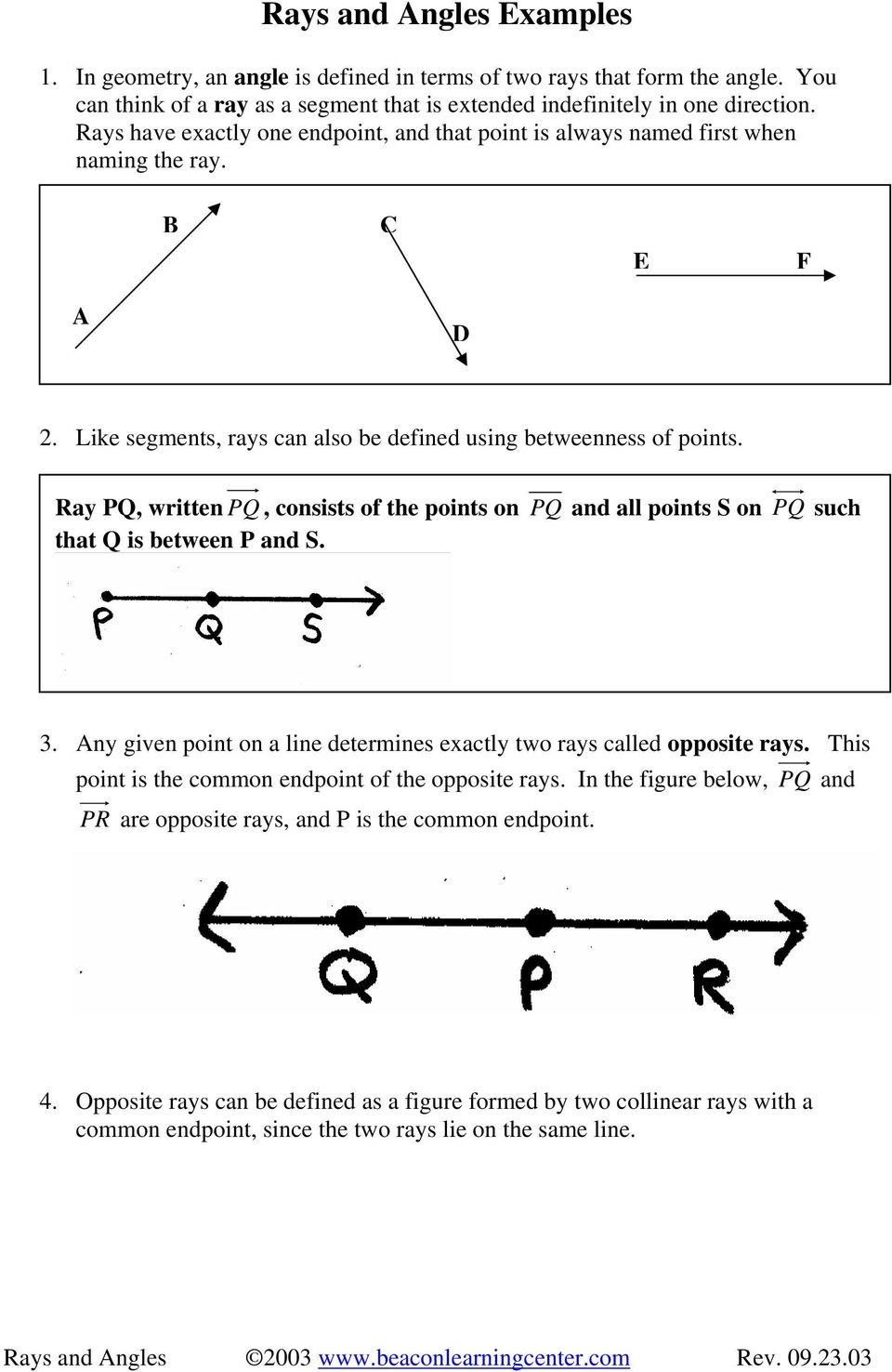 Geometry vocabulary 2. 7 substitution property: when pairs of.
