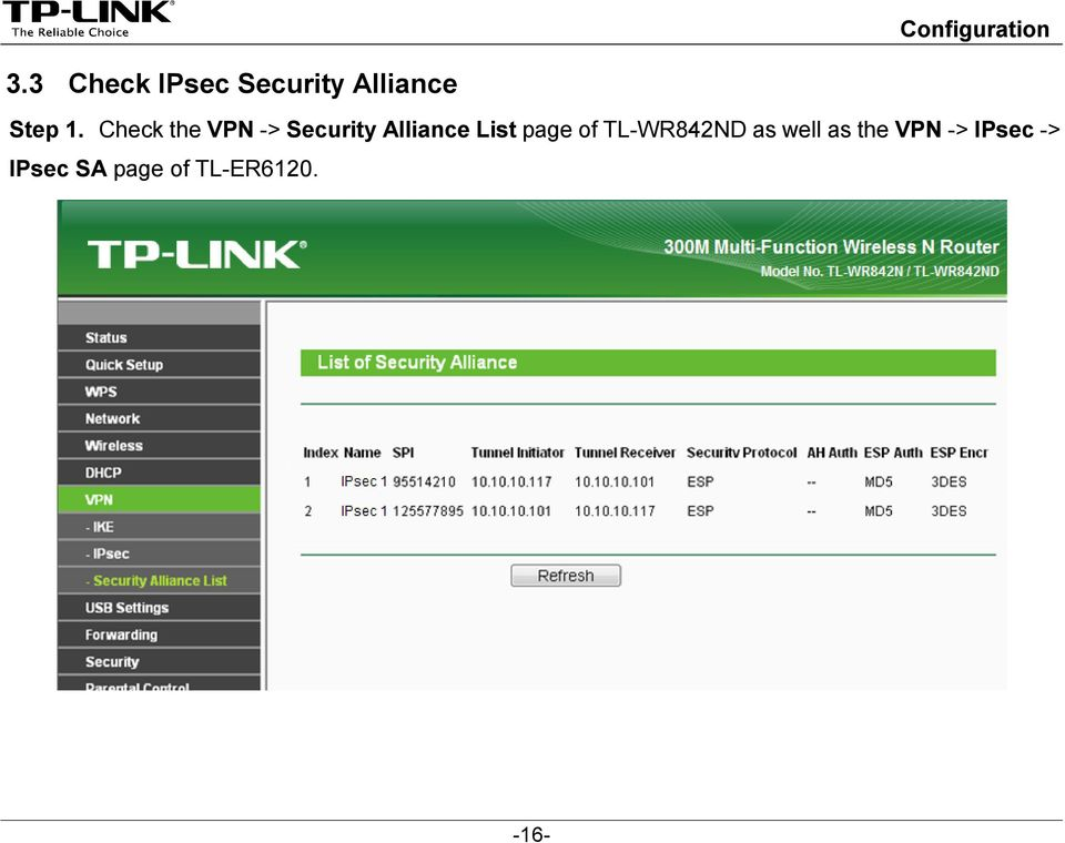page of TL-WR842ND as well as the VPN ->