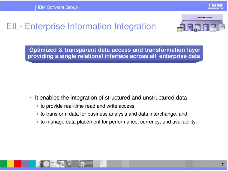 structured and unstructured data to provide real-time read and write access, to transform data for