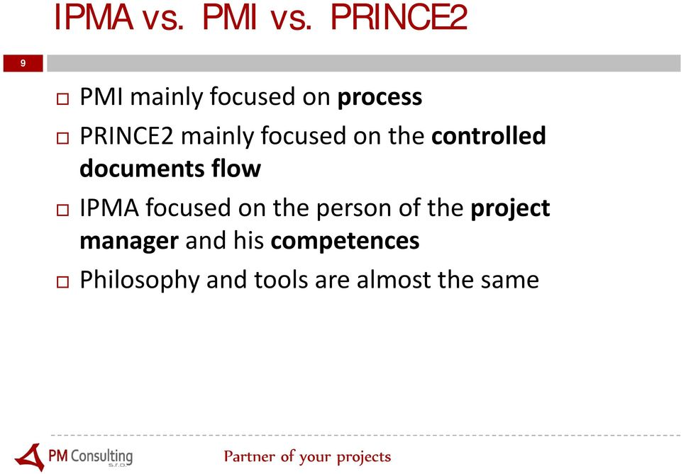 focused on the controlled documents flow IPMA focused