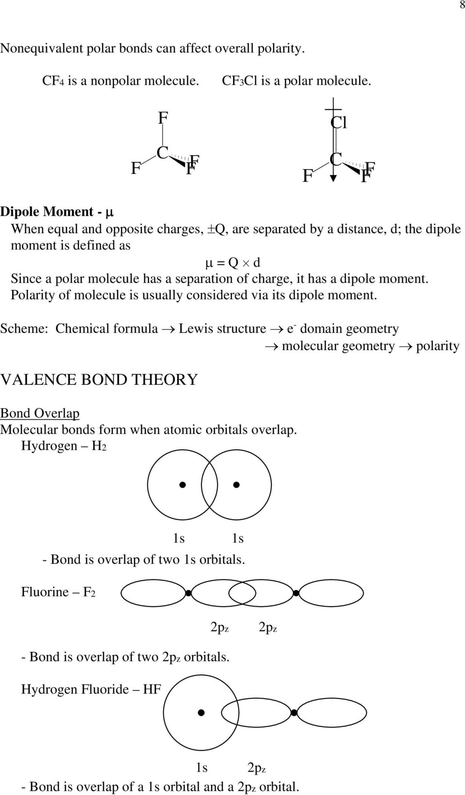 it has a dipole moment. Polarity of molecule is usually considered via its dipole moment.