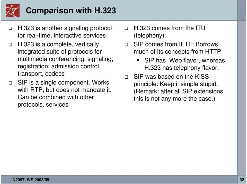 323 is another signaling protocol for real-time, interactive services H.