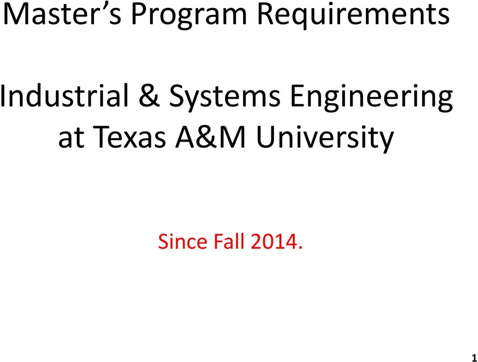 Systems Engineering at
