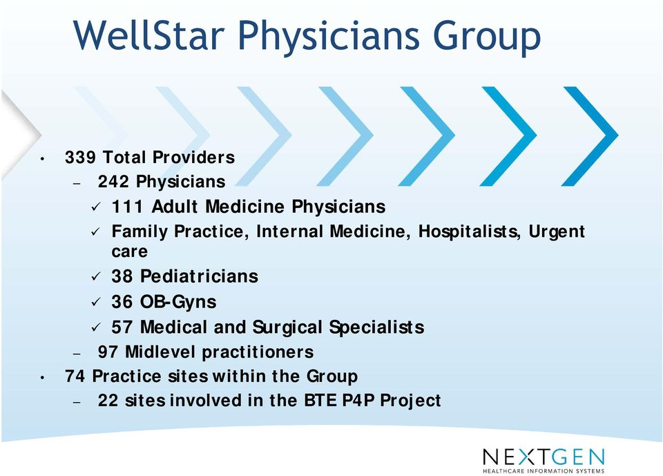 Pediatricians 36 OB-Gyns 57 Medical and Surgical Specialists 97 Midlevel