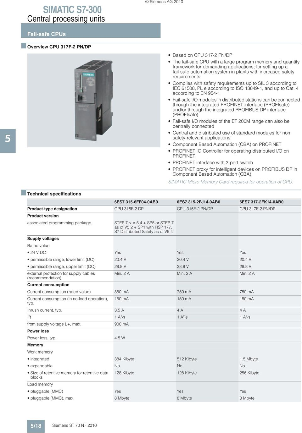 Complies with safety requirements up to SIL 3 according to IEC 6108, PL e according to ISO 13849-1, and up to Cat.