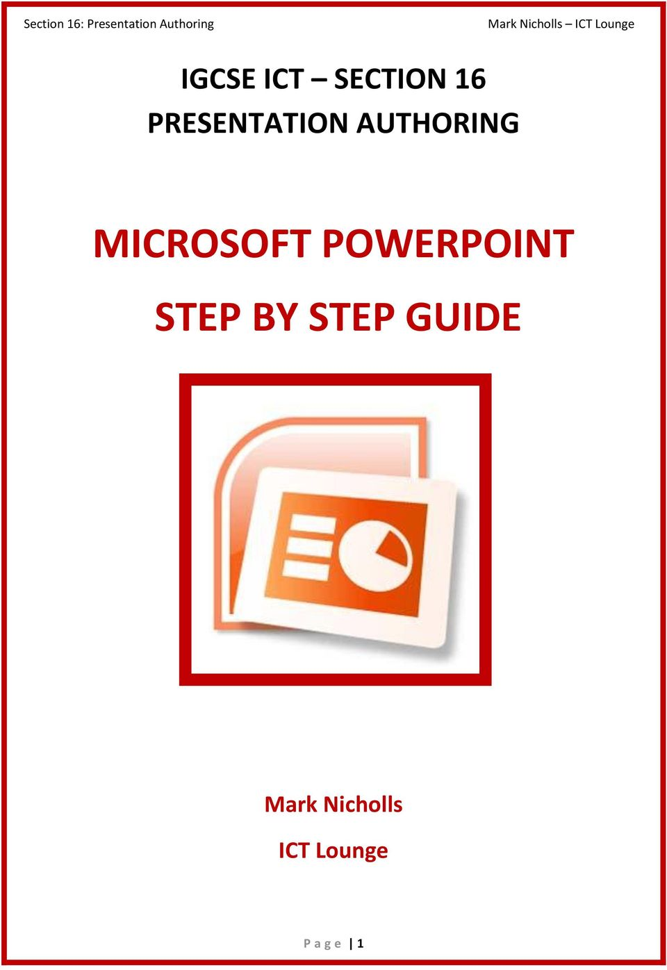 MICROSOFT POWERPOINT STEP BY