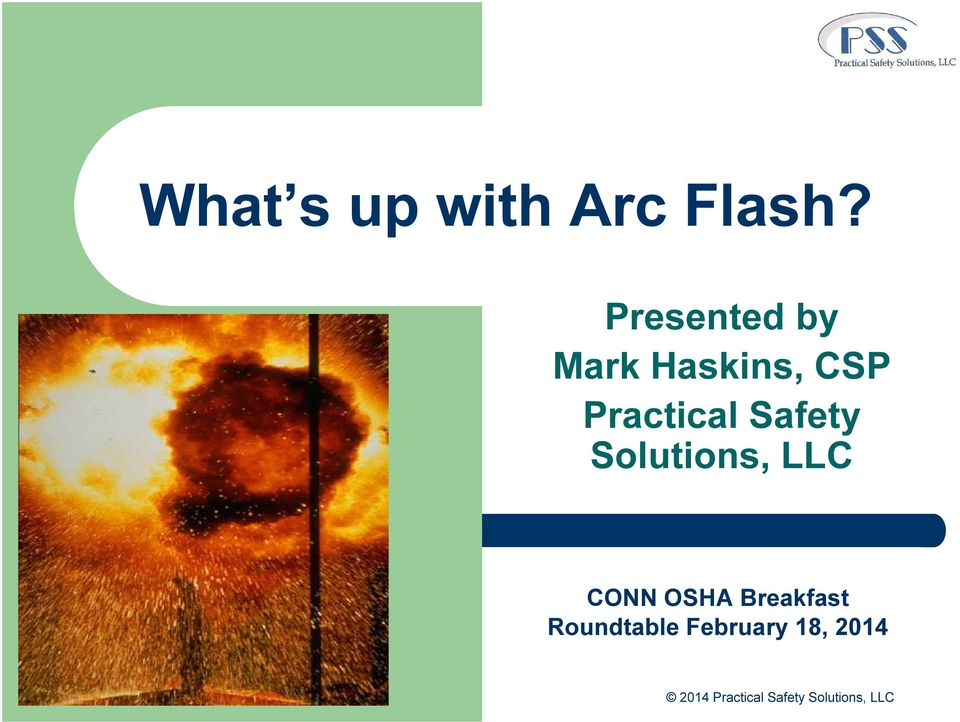 Safety Solutions, LLC CONN OSHA Breakfast