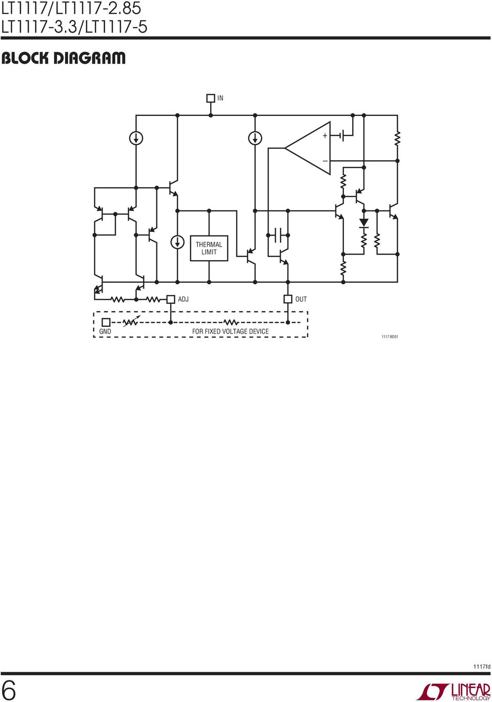 Lt1117 Lt Ma Low Dropout Positive Regulators Adjustable And High Current Regulator Circuit Diagram Using Lm117 7 Applications Formation The Famiy Of 3 Termina Reguators Are Easy To Use They Protected Against Short Therma Overoads
