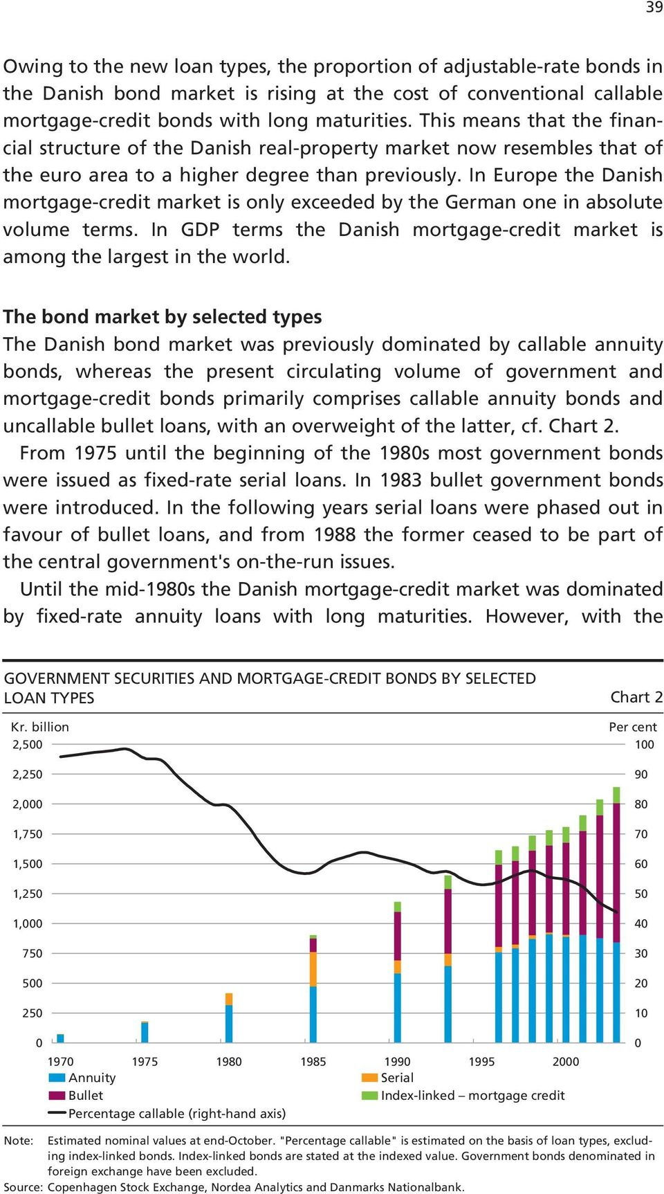 In Europe the Danish mortgage-credit market is only exceeded by the German one in absolute volume terms. In GDP terms the Danish mortgage-credit market is among the largest in the world.