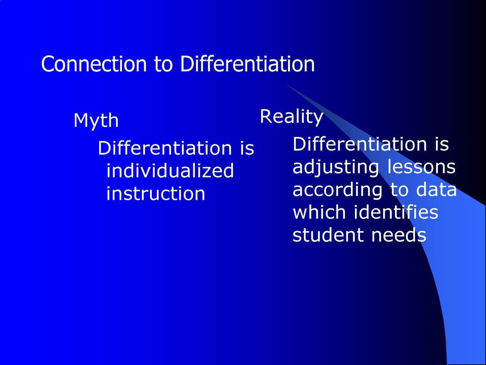 instruction Reality Differentiation is