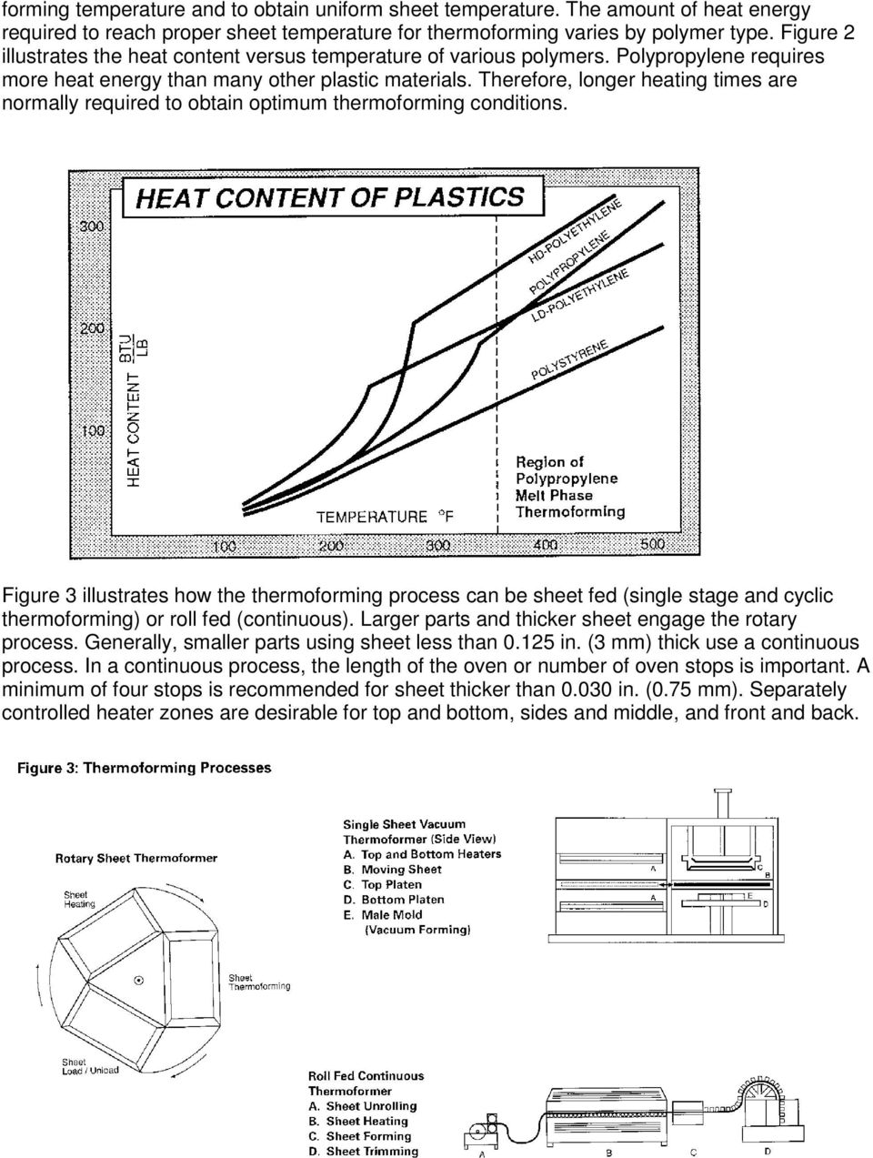 Therefore, longer heating times are normally required to obtain optimum thermoforming conditions.