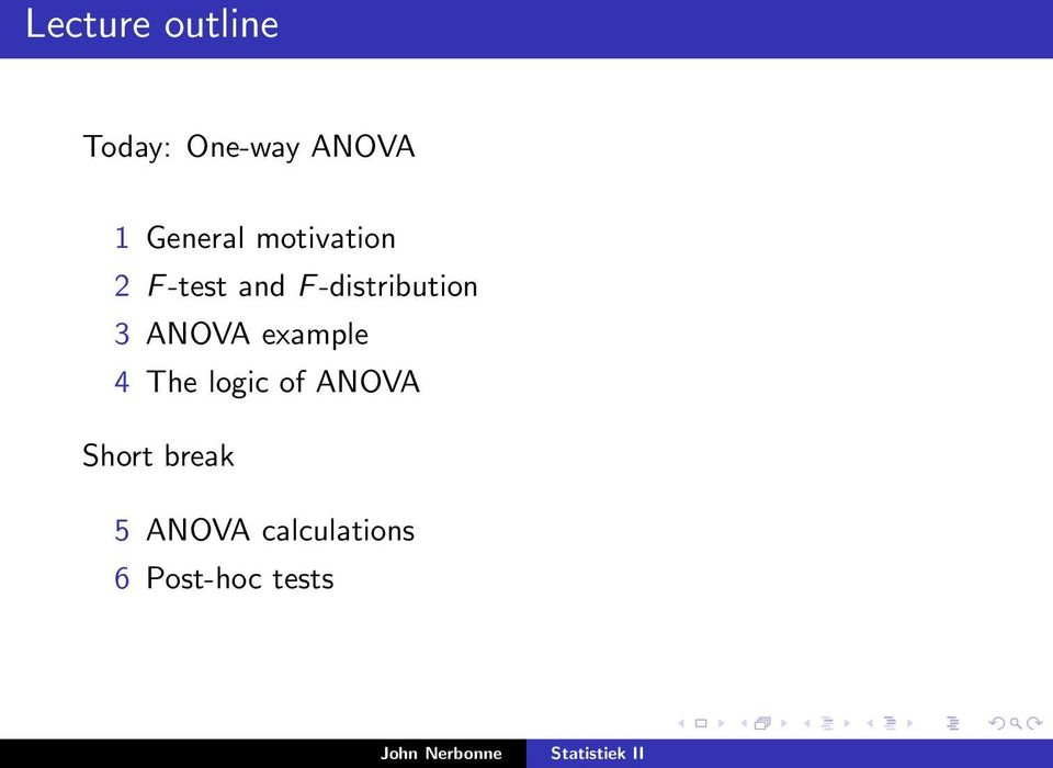 -distribution 3 ANOVA example 4 The logic