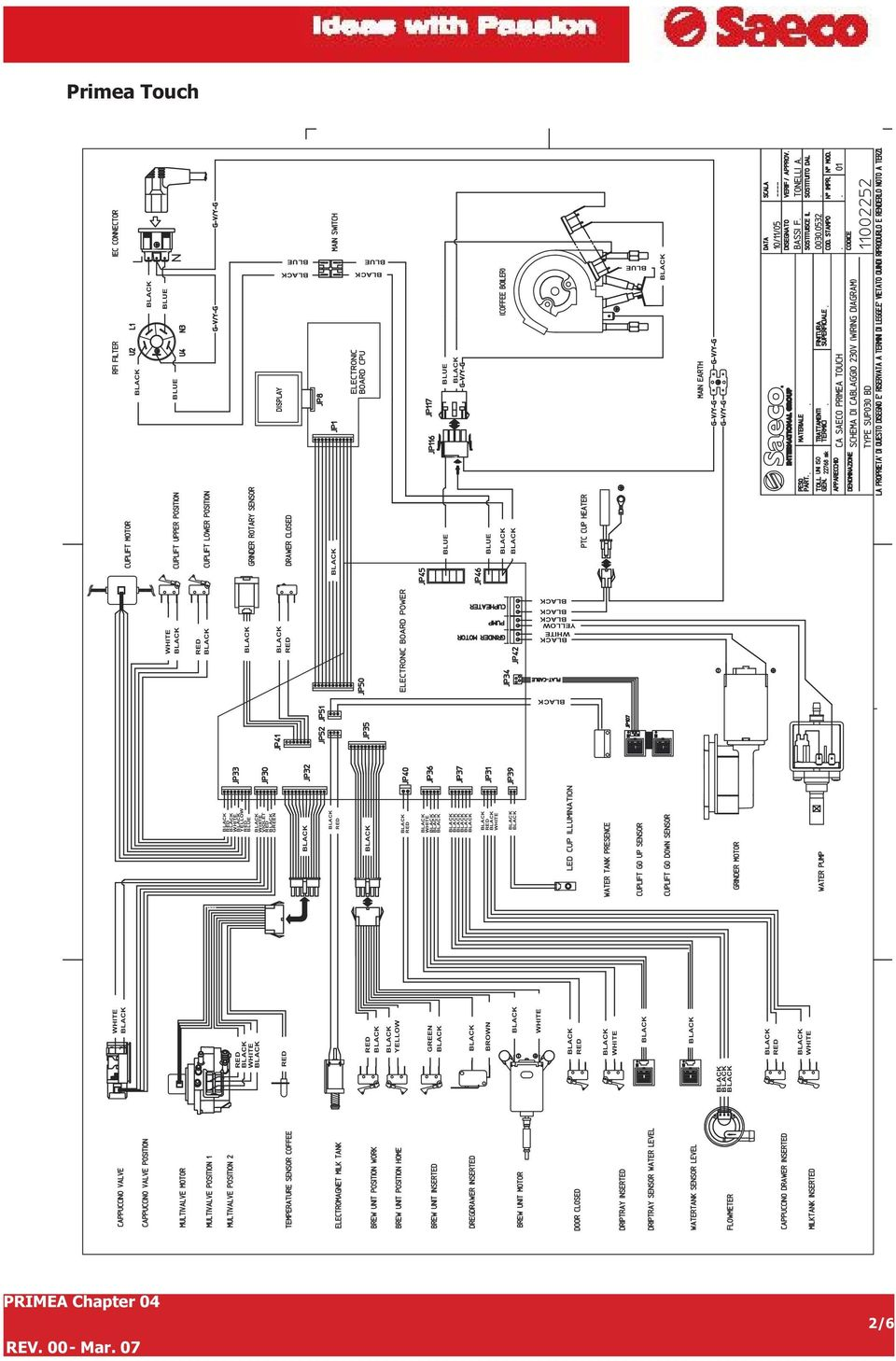 saeco wiring diagram images