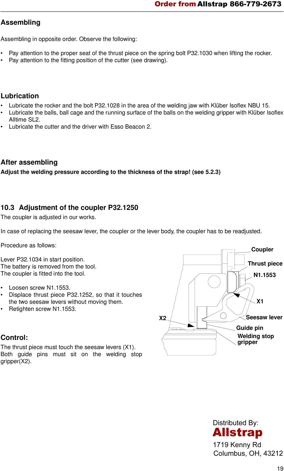 BATTERY - POWERED PLASTIC STRAPPING TOOL MODEL P320 - PDF