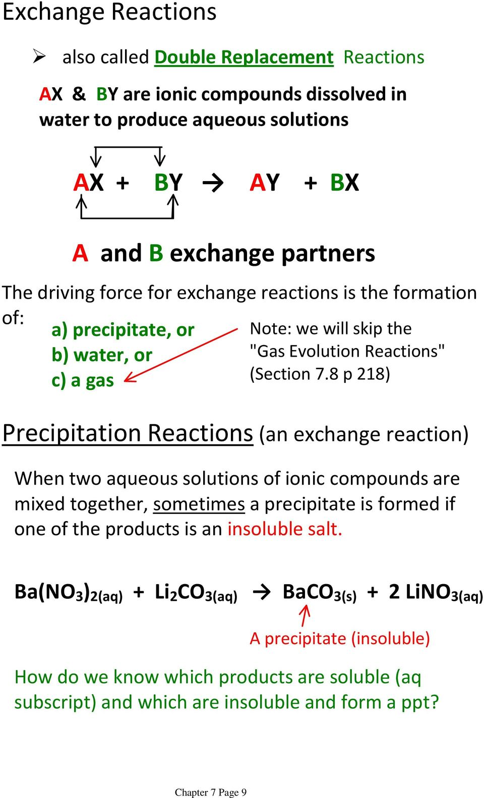 Chapter 7: Chemical Reactions - PDF