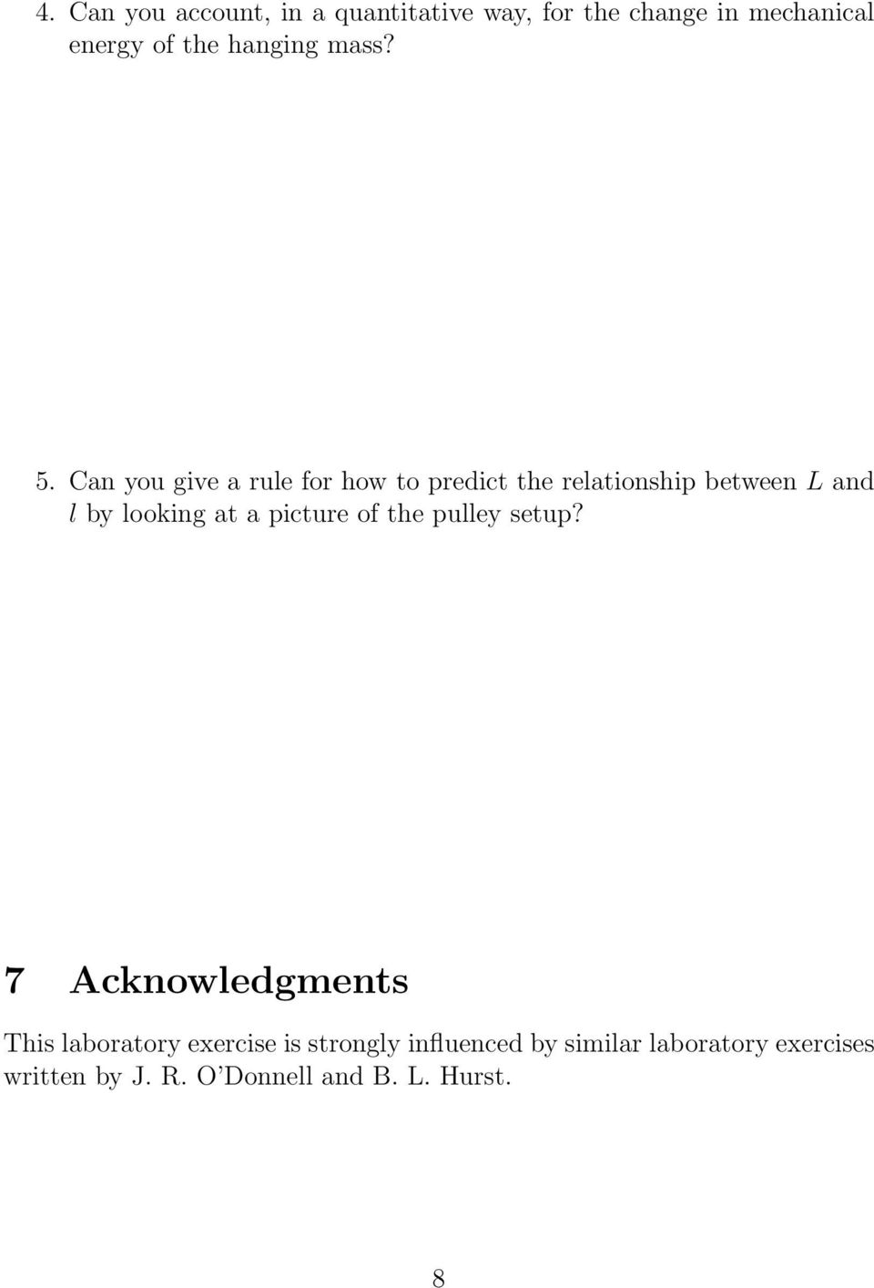 Can you give a rule for how to predict the relationship between L and l by looking at a
