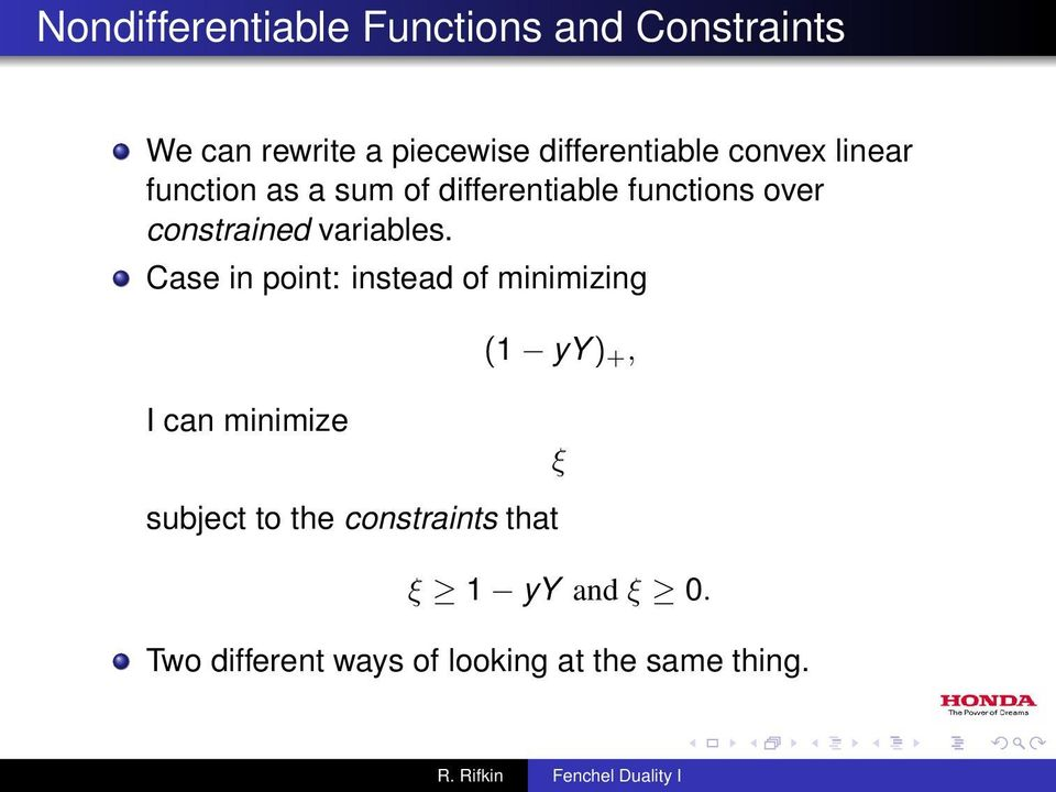constrained variables.