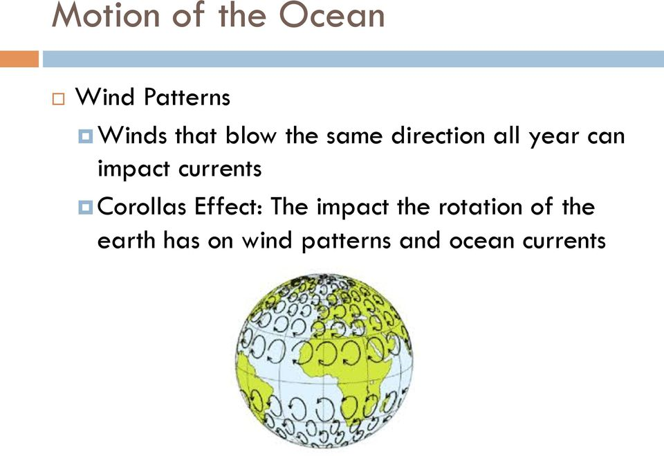 currents Corollas Effect: The impact the