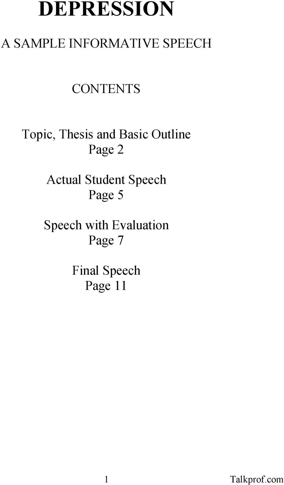 Example Of A Thesis Statement And Outline