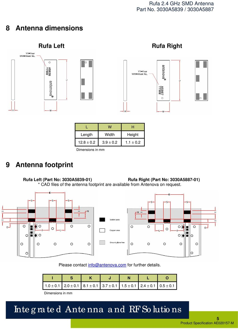 CAD files of the antenna footprint are available from Antenova on request. Please contact info@antenova.