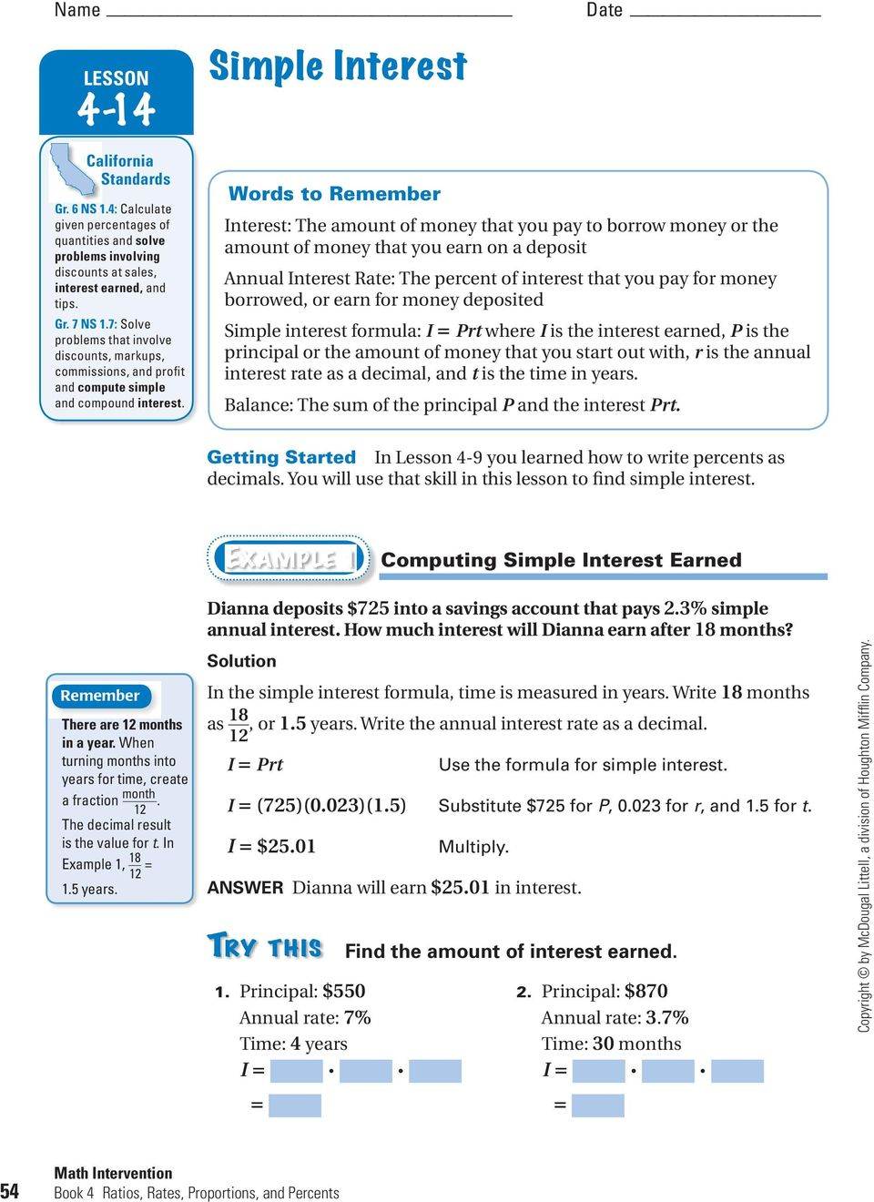 simple and compound interest worksheet Termolak – Simple Interest Word Problems Worksheet