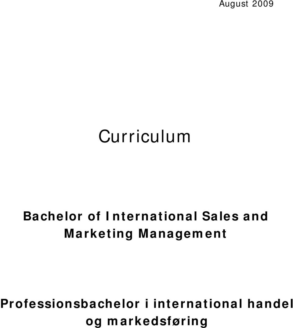 Management Professionsbachelor i