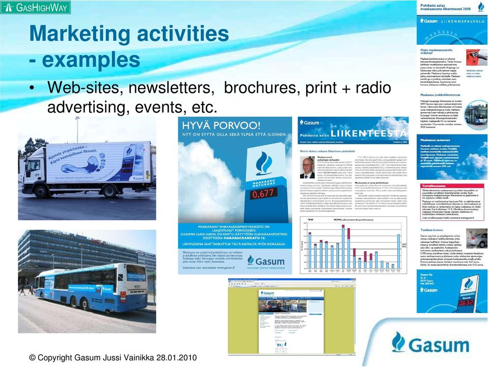 newsletters, brochures,