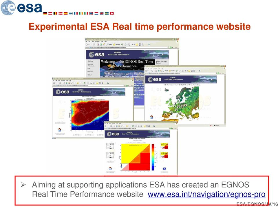 has created an EGNOS Real Time Performance