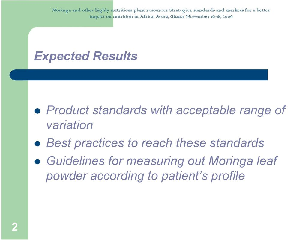 reach these standards Guidelines for measuring