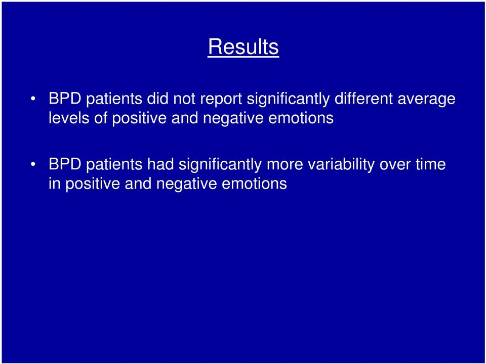 emotions BPD patients had significantly more