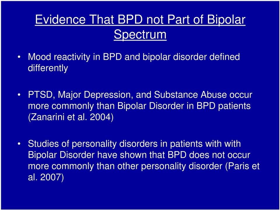 BPD patients (Zanarini et al.