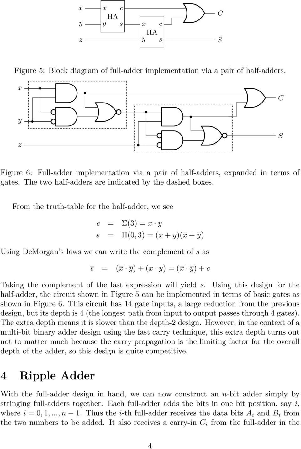 Fordham University Cisc Dept Of Computer And Info Science Spring Half Adders Full From The Truth Table For Adder We See C