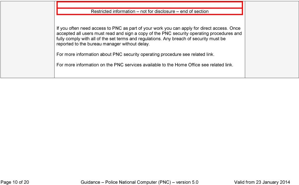 Police National Computer (PNC) Page 1 of 20 Guidance Police National