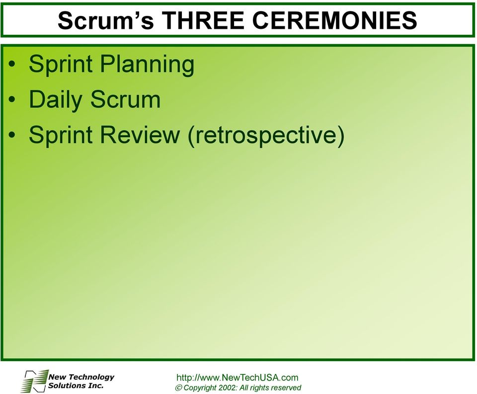 Planning Daily Scrum