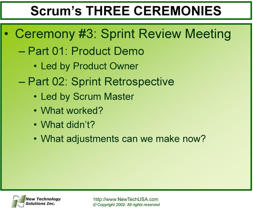 Part 02: Sprint Retrospective Led by Scrum Master