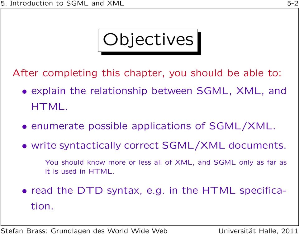 Chapter 5 Introduction To Sgml And Xml Pdf