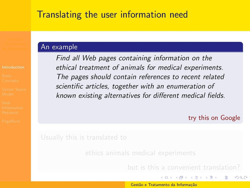 The pages should contain references to recent related scientific articles, together with an enumeration of
