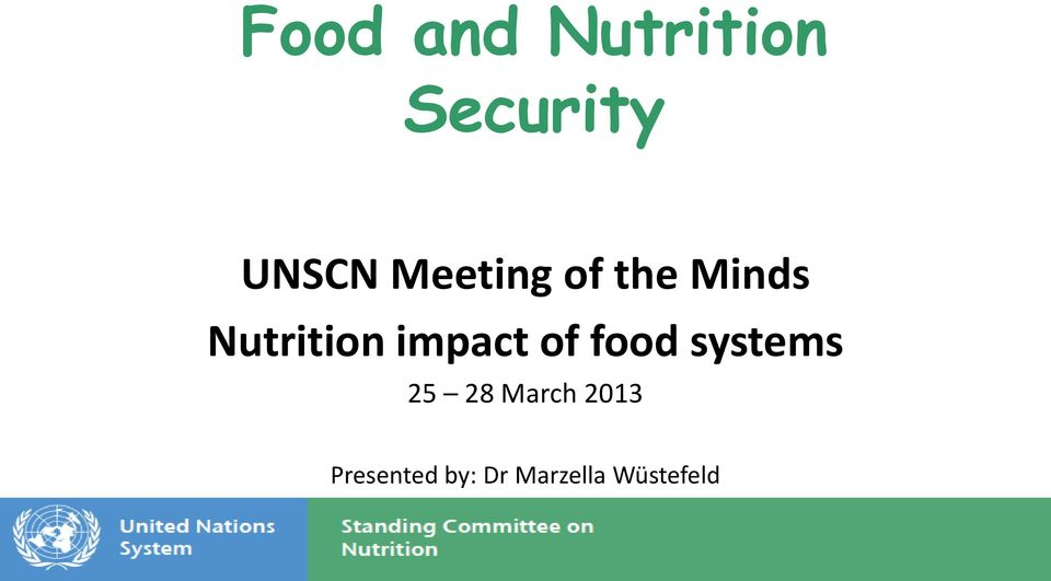 impact of food systems 25 28 March