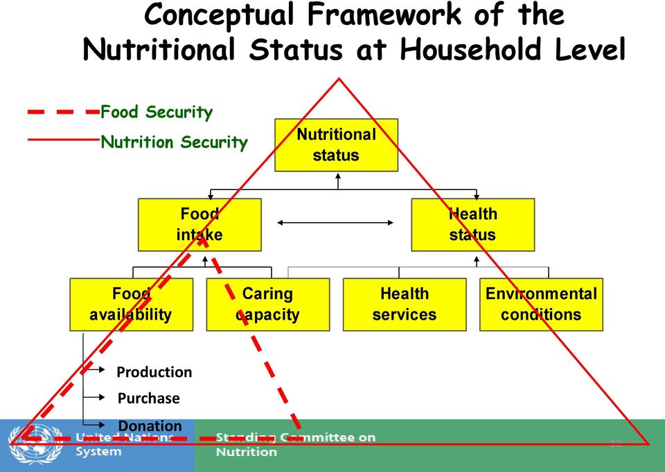 intake Health status Food availability Caring capacity Health