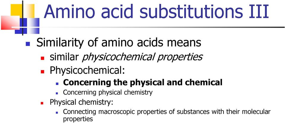 and chemical Concerning physical chemistry Physical chemistry: