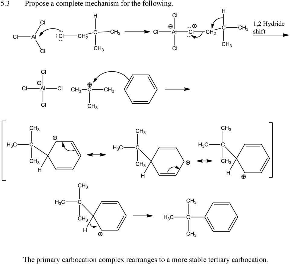 The primary carbocation complex