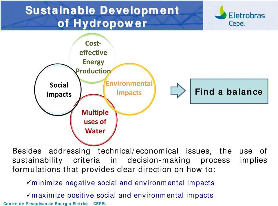 sustainability criteria in decision-making process implies formulations that provides clear direction on