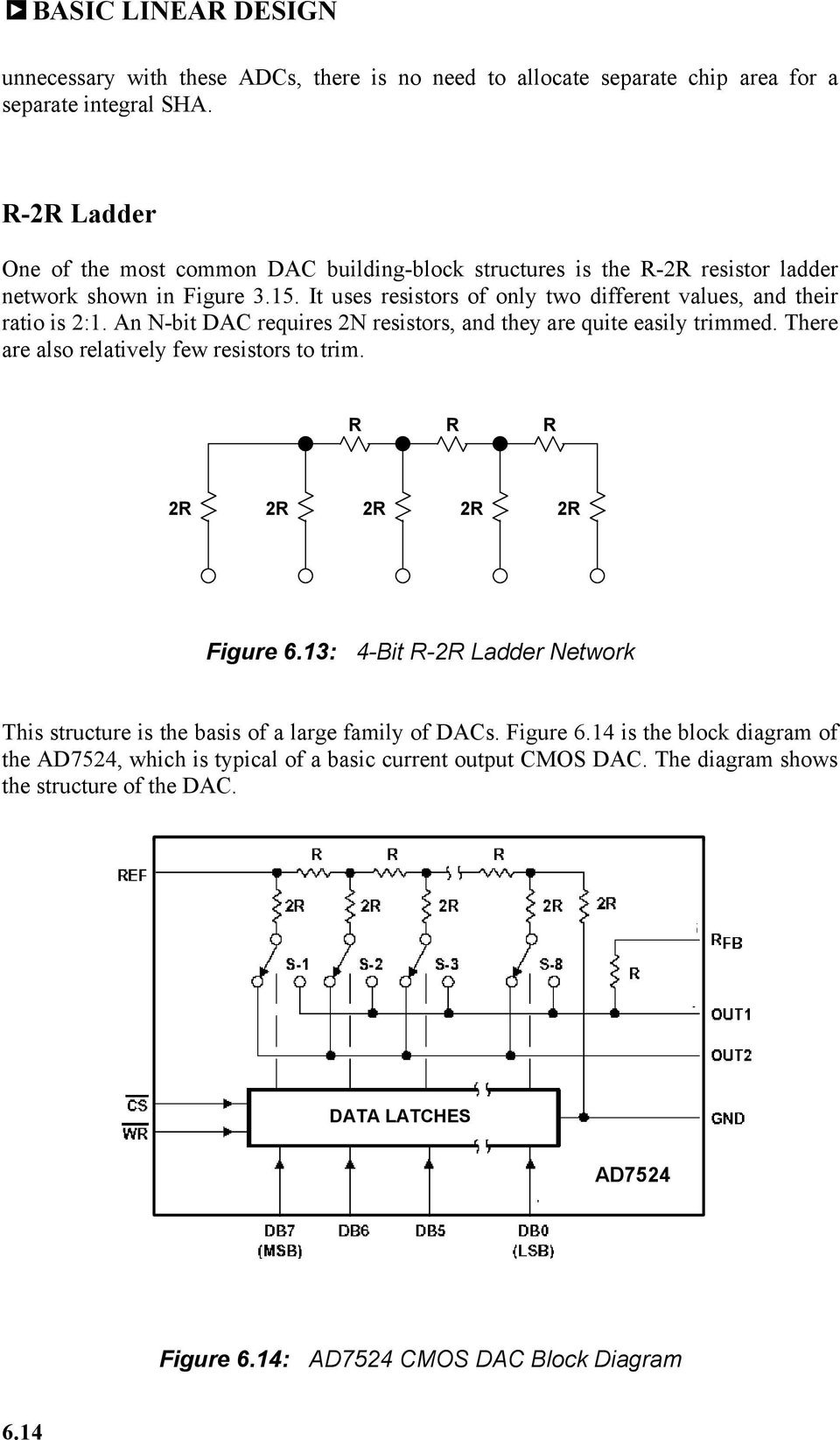 Chapter 6 Converters Pdf Working Of 4 Bit R 2r Ladder D A Converter Circuit 1 Technical Dac Block Diagram 614 It Uses Resistors Only Two Different Values And Their Ratio Is 21