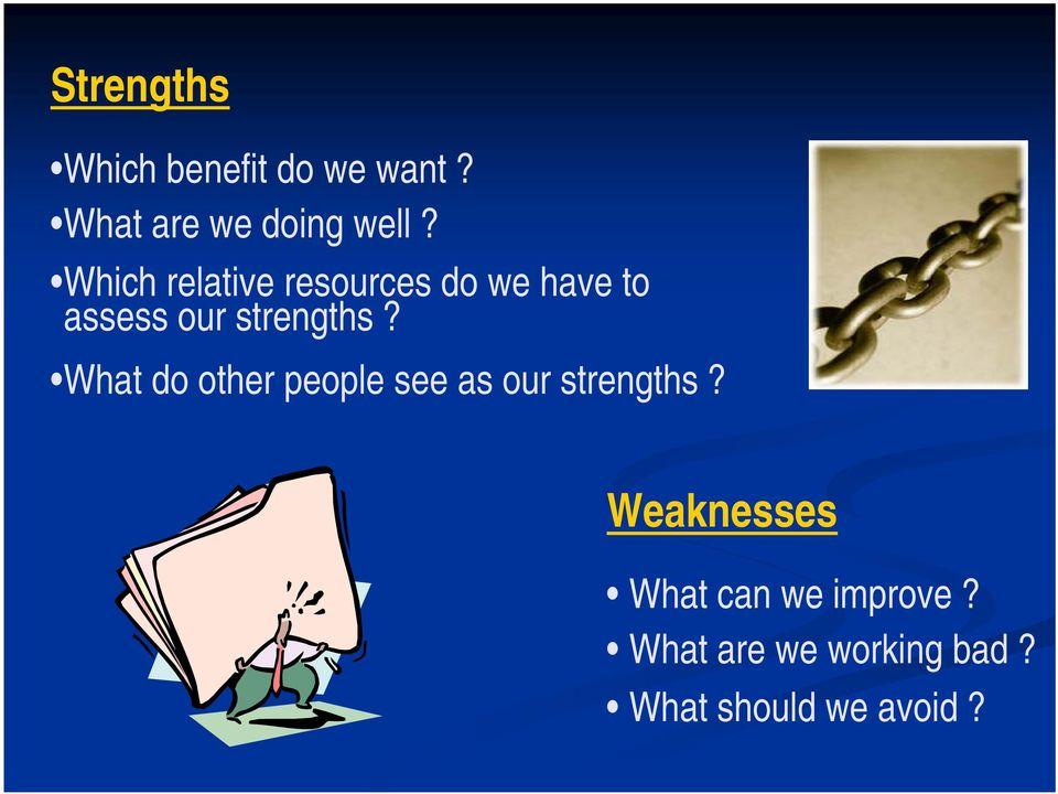 What do other people see as our strengths?