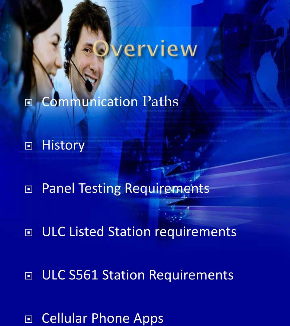 Station requirements ULC S561