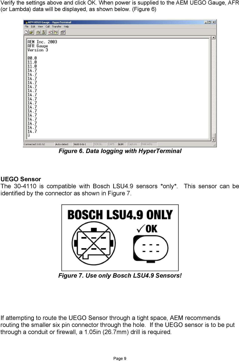 Installation Instructions for Gauge-Type UEGO Controller - PDF