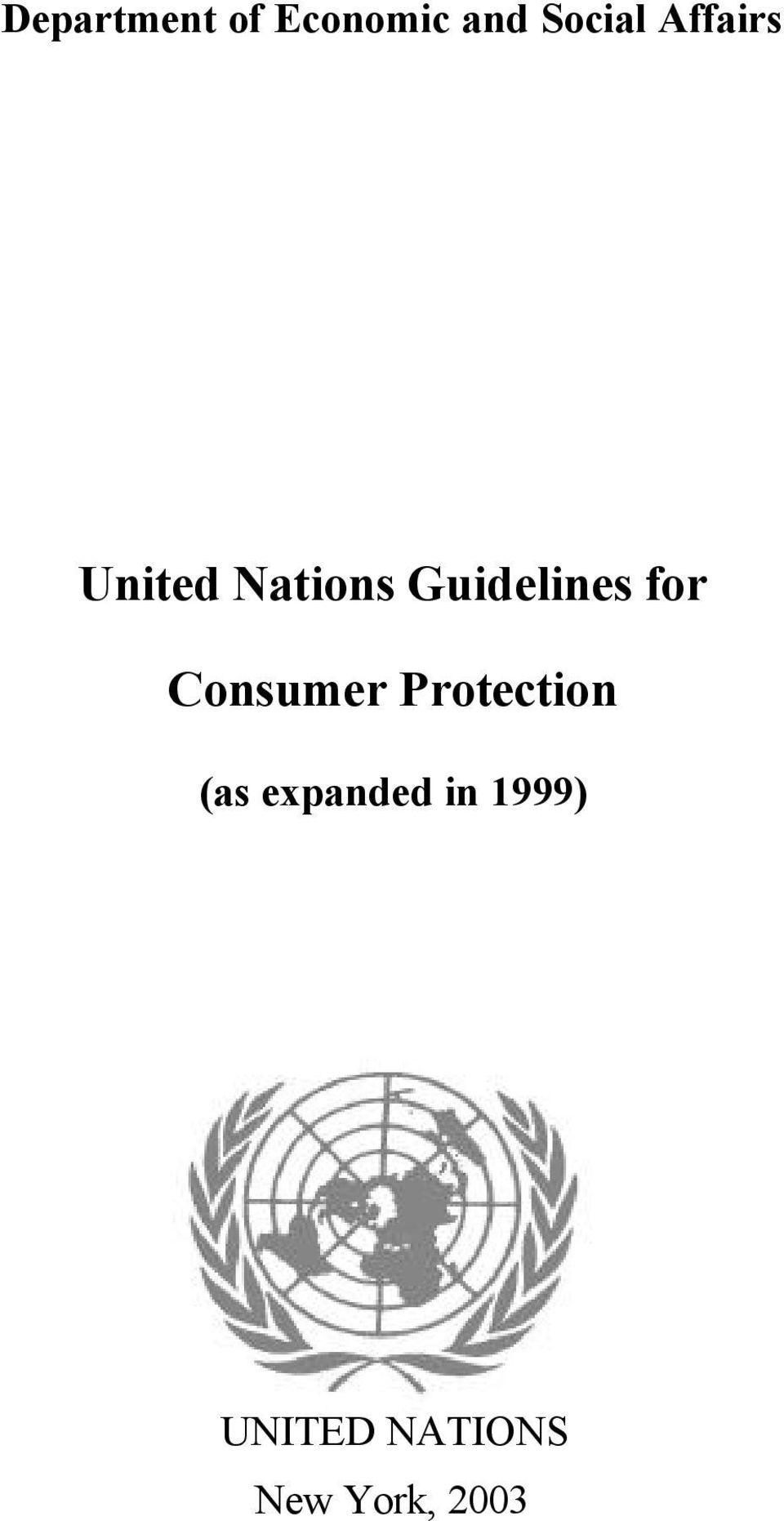 for Consumer Protection (as