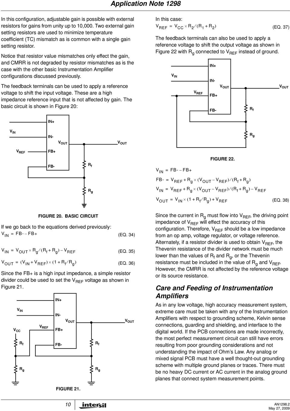Instrumentation Amplifier Application Note Pdf Computer Integrated Circuit Diagram Filtercircuit Basiccircuit Notice That Resistor Value Mismatches Only Effect The Gain And Cmrr Is Not Degraded By