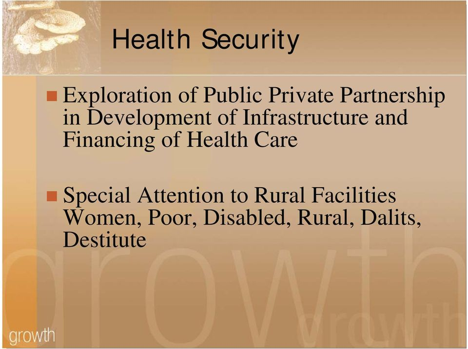 Financing of Health Care Special Attention to Rural