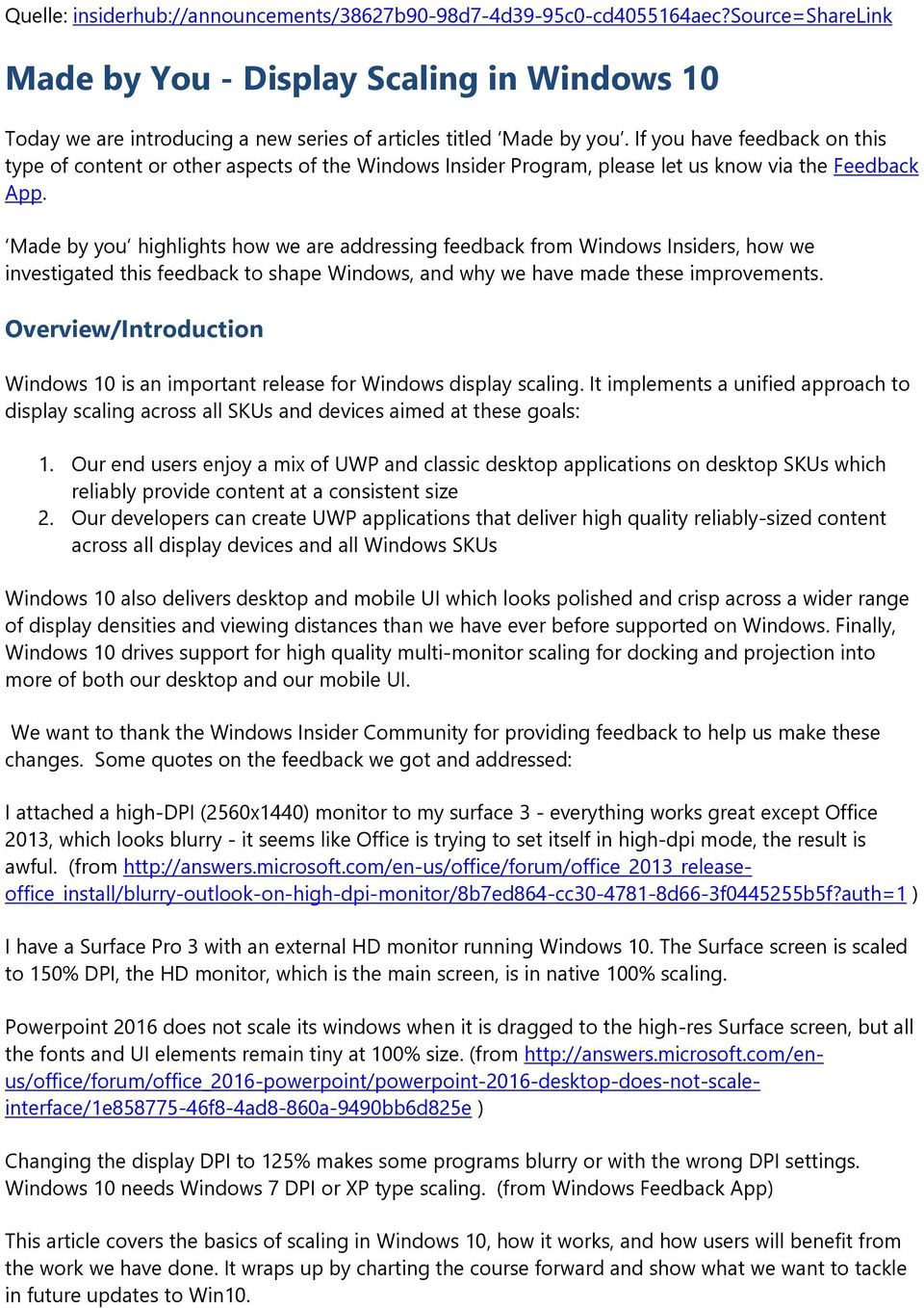 Made by You - Display Scaling in Windows 10 - PDF